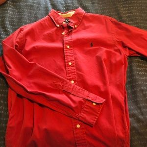 "Red Polo Ralph Lauren ""Classic fit"" button down"